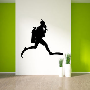 Scuba Diving Wall Decal Sticker 3