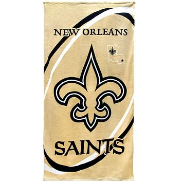 New Orleans Saints - Logo Fiber Reactive Beach Towel