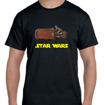 Star Wars The Force Awakens Traditional Transportation  Mens T Shirt
