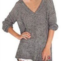 Maddy Knit Salt 'N Pepper- Brandy Melville Sweaters- Brandy & Melville- $64.99