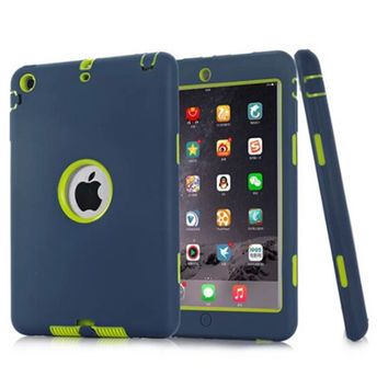 Hot sell 3D case For iPad mini 1/2/3 Retina Kids Baby Safe Armor Shockproof Heavy Duty Silicone Hard Case Cover