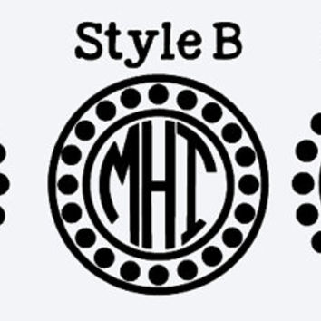 Dotted Circle Monogram Decals