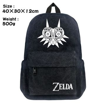 Boys bookbag trendy New Game Zelda School Backpack Student  Cosplay Triforce Hylian shield Shoulder Laptop Travel Bags Boy Girl Gift AT_51_3