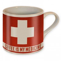 """COFFEE IS MY MEDICINE"" COFFEE MUG BY TRIXIE & MILO"
