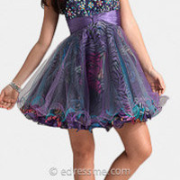 Purple Print Homecoming Dresses by Jasz Couture