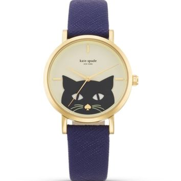 kate spade new york Novelty Cat Metro Watch, 34mm | Bloomingdales's