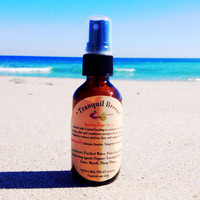 Tranquil Breeze Anxiety Ease Spray Glass Bottle Organic Crystal Healing Infused, Courage, Calm, Confidence, Reduce Fear, Negative Self Talk