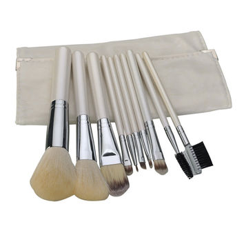 Hot Deal Make-up Beauty On Sale Hot Sale 10-pcs White Professional Make-up Brush [6050161409]