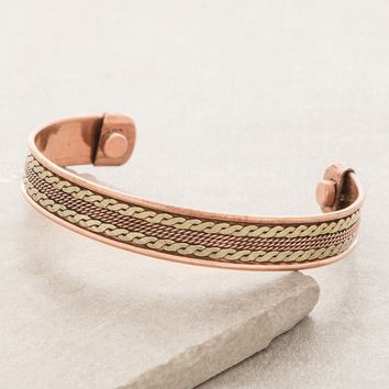 Eternal Knot Magnetic Copper Bracelet
