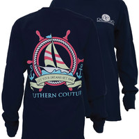 Southern Couture Dreams Set Sail Boat Anchor Comfort Colors Long Sleeves T-Shirt