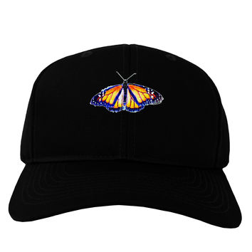 Watercolor Monarch Butterfly Adult Dark Baseball Cap Hat