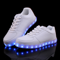 Led Shoes For Adults 8 Colors Luminous Led Shoes Light Up Women Casual Shoes Colorful Black White
