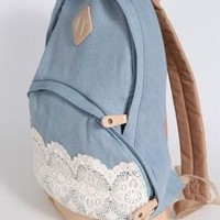 Fashion New Denim Authentic Lace Backpack from styleonline