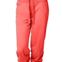 LE3NO Womens Elastic Waistband Stretchy Sweat Pants (CLEARANCE)