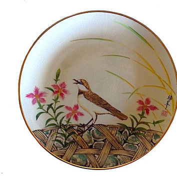 Gardens of the Orient, Satsuma Plate, Hamilton Collection, Morning Song, Wall Décor, Collectible Plate, Satsuma Collectible, Marushige