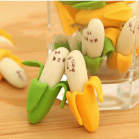 Cute Banana Style Pencil Eraser Stationery Kit For Children Xmas Gift LSCA .S
