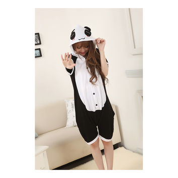 Unisex Adult Pajamas  Cosplay Costume Animal Onesuit Sleepwear Suit Summer  The red panda tears