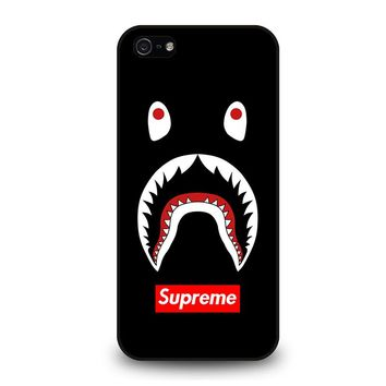 BAPE CAMO SHARK SUPREME BLACK iPhone 5 / 5S / SE Case Cover