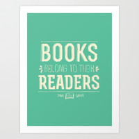 Books- John Green Art Print by deducktion