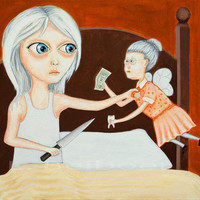 Print Tooth Fairy Girl Oddlings Fine Art Print 8 x 10