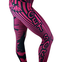 S2 Activewear - Pink and Black Batman Leggings