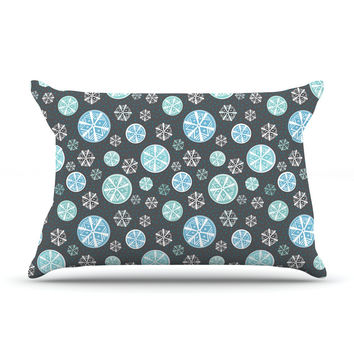 "Julie Hamilton ""Midnight Snow"" Winter Pillow Case"