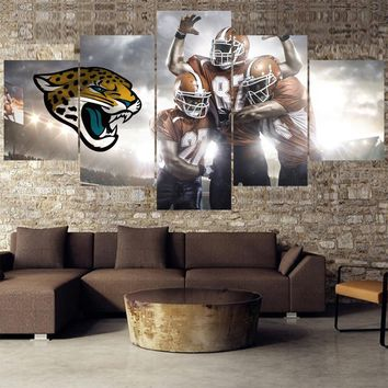 Football Team Paintings Jacksonville Jaguars Modern Home Decor Living Room Bedroom Wall Art Canvas Print Painting Calligraphy
