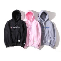 Champion Men And Women Couples Long-Sleeved Hooded Sweater