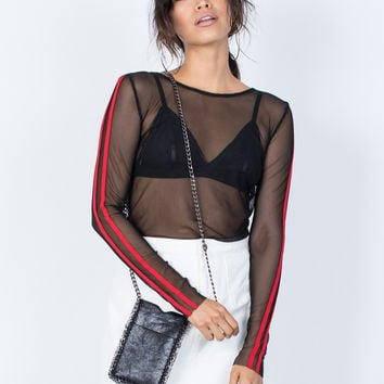 Night Owl Sheer Top