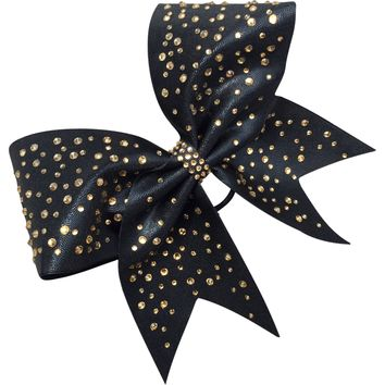 Mystique fabric bow with crystals!