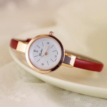 Comfortable Vintage Fashion Quartz Classic Watch Round Ladies Women Men wristwatch On Sales = 4662276036