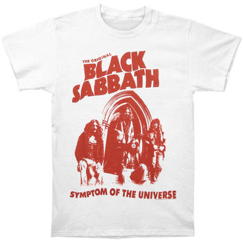 Black Sabbath Men's  Symptom Of The Universe T-shirt White