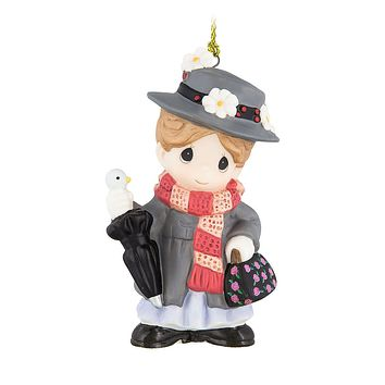 Disney Parks Mary Poppins Porcelain Ornament by Precious Moments New with Box