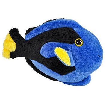Wildlife Tree 3.5 Inch Blue Tang Fish Mini Small Stuffed Animals Bulk Bundle of Ocean Animal Toys or Sea Party Favors for Kids Pack of 12