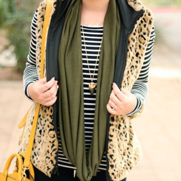 Olive Infinity Sweater Scarf