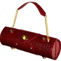 Valentine's Day Gift, Red Wine Purse, Personalized Champagne Tote, Single Wine Carrier