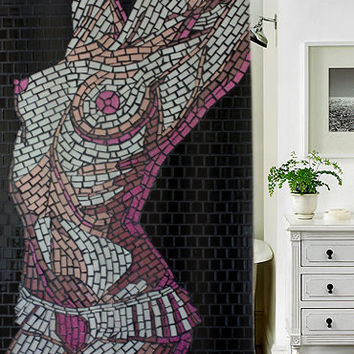 mosaic women special custom shower curtains that will make your bathroom adorable
