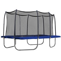 Skywalker 15-ft. Rectangle Trampoline with Enclosure (Blue)