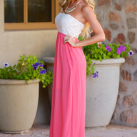 Can't Help But Smile Maxi Dress - Coral