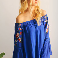 Rivera Maya Cobalt Blue Top