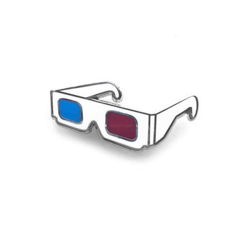 3D Glasses Lapel Pin