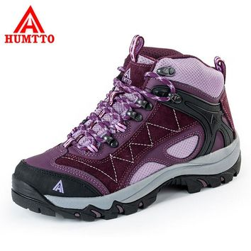 HUMTTO Women's Hiking Shoes Thermal Outdoor Shoes Fur Waterproof Breathable Trekking Shoes Anti-Slippery Mountain Sneakers Boots