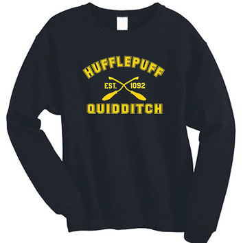 Hufflepuff Quidditch Harry Potter Shirt Sweatshirt Sweater Shirt – Size S M L XL