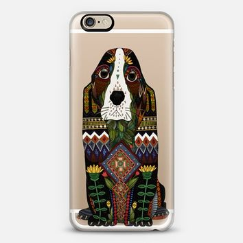 Basset Hound love transparent iPhone 6s case by Sharon Turner | Casetify
