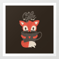 In Coffee We Trust Art Print by Tobe Fonseca