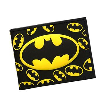 3D Batman Series Cartoon Wallet The Avengers Super Hero Batman Wallet For Teen Boy Girls Leather Purse Card Holder Comics Wallet