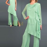 [US$179.99] Sexy Vintage Style Chiffon Mother Of The Bride Pant Suits