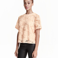 Blouse with Chiffon Flowers - from H&M