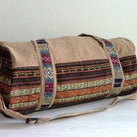 Handmade Small Duffle Bag, Southwestern weekender bag, Hippie travel bag, Hipster overnight bag, Cotton Small Sport Gym bag, Cute Gift ideas