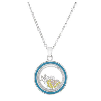 Disney Parks Frozen Elsa Charm Keeper Necklace New with Tags